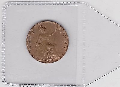 1903 Edward Vii Half Penny In Good Extremely Fine Or Better Condition