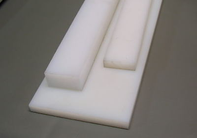 UHMW virgin white sheet 0.75'' x 8'' x 13.5'' Made in USA Slick Strip (2.8CF)