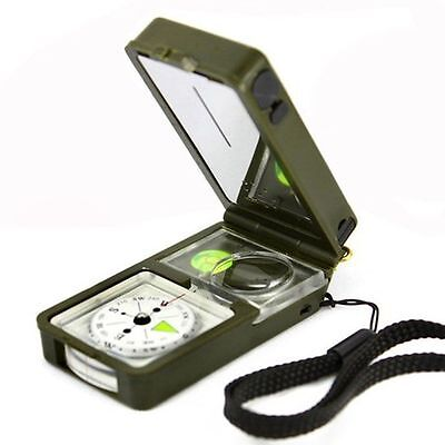 10 in1 Hunt Army Camp Hiking Survival Tool Compass+Flint+Thermometer+Hygrometer