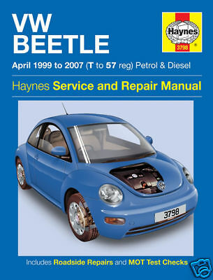 Haynes Manual Volkswagen VW Beetle 1999-2007 NEW 3798