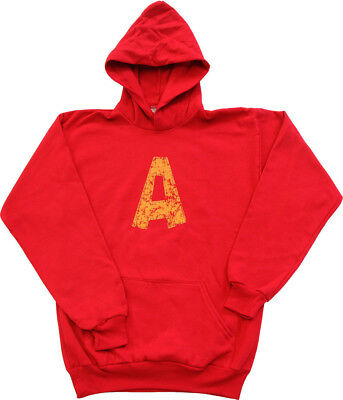 Youth Red Movie Alvin and the Chipmunks Alvin A Distressed Hoodie Sweatshirt