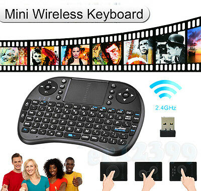 2.4G Wireless Fly Air Mouse Keyboard Remote Touchpad USB For KODI Android TV BOX