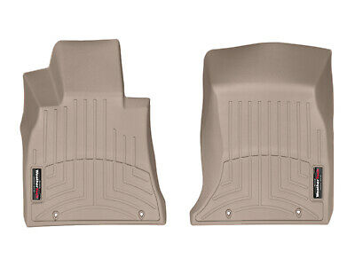 WeatherTech Floor Mats FloorLiner for Audi Q7 Bentayga 2017-2018 1st Row Tan