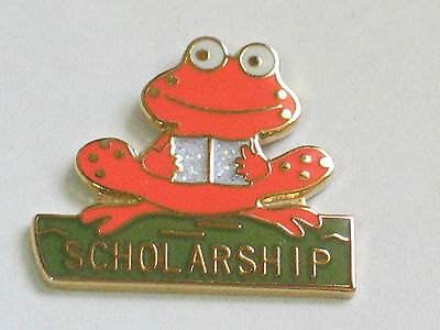 Orange Scholarship Frog Pin (#3)