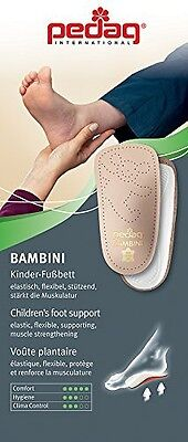 Pedag 192 Bambini APMA Accepted 3/4 Children's Orthotic, Tan Leather, Toddler