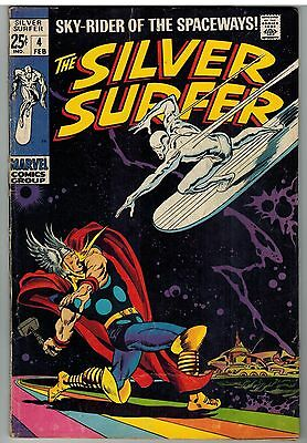 Silver Surfer #4 1969 Lower Distribution Marvel Silver Age Giant 68 Pages!