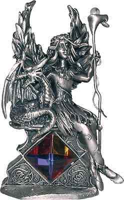 Kindred Spirits  Pewter Myth and Magic - Mermaid and Dragon Figurine