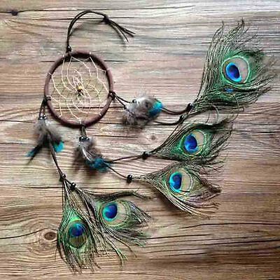 Handmade Dream Catcher Beads Feather Wall Hanging Decoration Cars Ornament 55cm