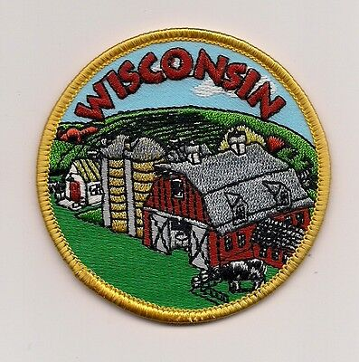 Souvenir Travel Patch - State Of Wisconsin