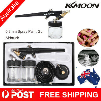 Siphon Feed Airbrush Single Action Air Brush Kit 0.8mm Spray Gun for Makeup R9L4