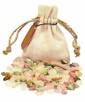 Romance Power Pouch Healing Crystals Stones Set Tumbled Natural Love Gemstones