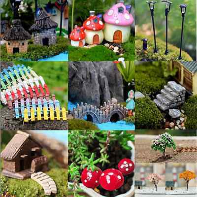 Lots DIY Figurine Craft Plant Pot Garden Ornament Miniature Fairy Garden Decor