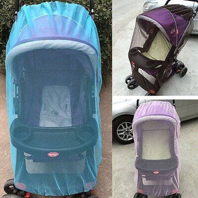 Child Insect Mosquito Net Pushchair Sunshade Tent Elastic Whipstitch Buggy Cover