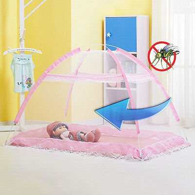 Hot Baby Bed Curtain Console Mosquito Nets No Installation Bottomless Veil Cover
