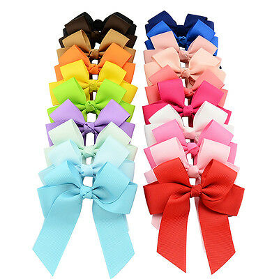 Grosgrain Ribbons Cheer Bow With Alligator Hair Clip Baby Girls Boutique
