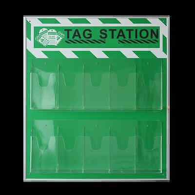 WOO Green Industrial Security Safety Tag Station,Unfilled, Station Only