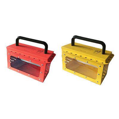 WOO Industrial Safety Visible Group Lockout Box with 20 padlock eyelets