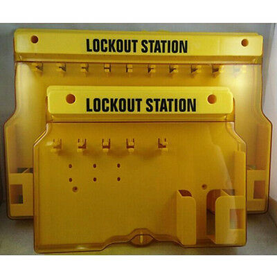 WOO Overall Molding Lockout Station with Cover, Unfilled Safe Security Padlock
