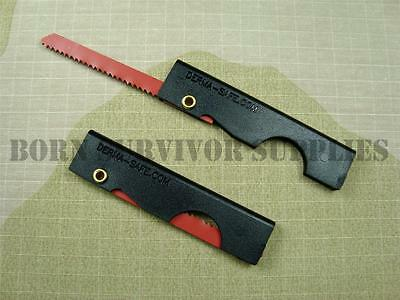 Derma-Safe FOLDING SURVIVAL UTILITY SAW 18 TPI E&E SERE Bushcraft Kit Dermasafe