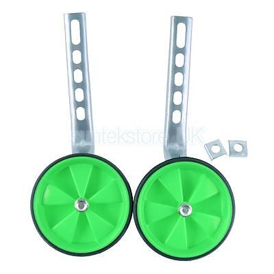 "Boys Girls Kids Bike Stabilizer Training Wheels for 12-20"" Bicycles Green"