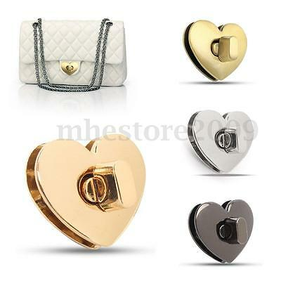 Heart Shape Clasp Turn Lock Twist Lock Metal Hardware For DIY Handbag Bag Purse
