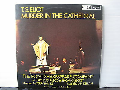 T.S. ELIOT Murder In The Cathedral ARGO RECORDS DOUBLE VINYL LP Free UK Post