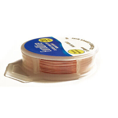 1 x Rose Gold Plated Copper 1mm x 4m Round Craft Wire Hanging Reel X1210