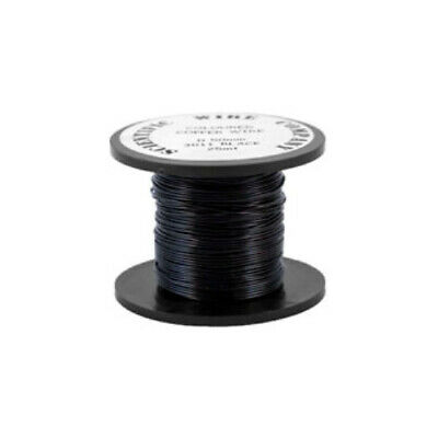 1 x Black Plated Copper 0.5mm x 15m Round Craft Wire Coil W5011