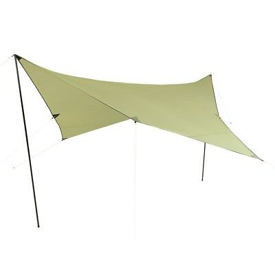 10T Beechnut Tarp 3x3 UV-50+ - Sun awning, 300x300 cm with erection poles and pe