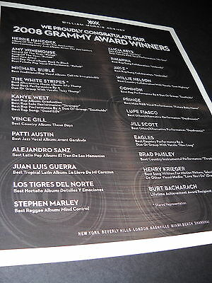 AMY WINEHOUSE Michael Buble WHITE STRIPES Rihanna others 2008 PROMO DISPLAY AD