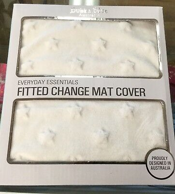 New Bubba Blue Baby Fitted Change Table Mat Cover White Soft Changetable