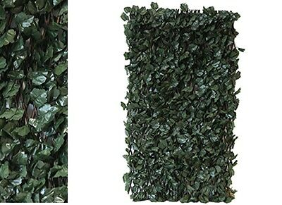 Artificial Ivy Leaf Fencing Screening on Trellis 2 x 1 m expandable Hedge Cover