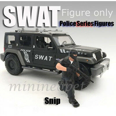 American Diorama Ad-77421 Police Swat Team Figure For 1/18 Model Car Snip