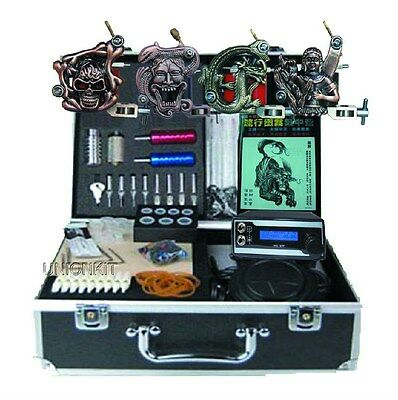 New Professional Tattoo Machine Kits With High LCD Power Equipment Supply Set