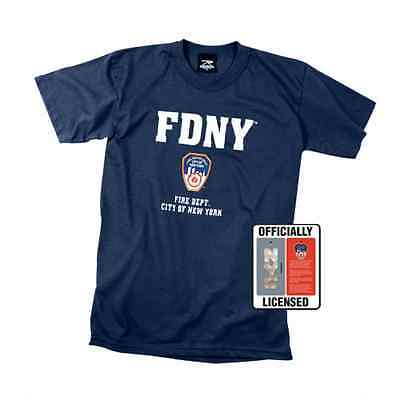 Rothco 6647 Officially Licensed FDNY T- Shirt - Navy Blue Tee Shirt