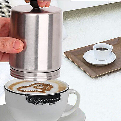 Stainless Steel Decorating Coffee Cappuccino Cocoa Duster Dredger Pattern Mould
