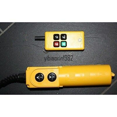 New F21-2S/ZK Single Emitter Hoist Crane Radio Wireless Remote Control AC 220V
