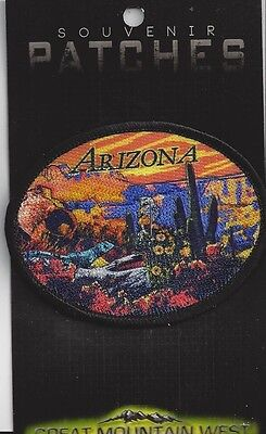 Colorful Souvenir Patch -  State Of Arizona