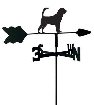 Bloodhound Garden Style Weathervane Black Wrought Iron Look Made In Usa Tls1062