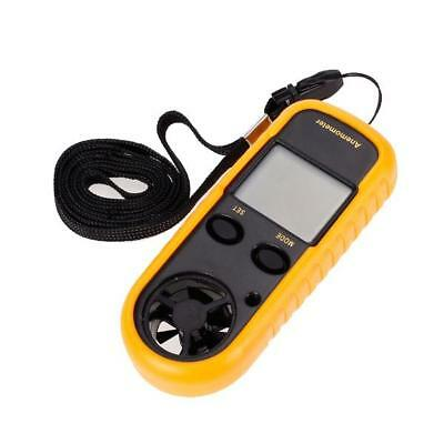 New LCD Digital Wind Speed Measure Meter Anemometer Thermometer GM816