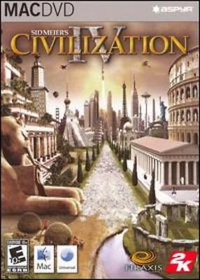 Civilization 4 MAC DVD dominate world past colonizations history simulation game
