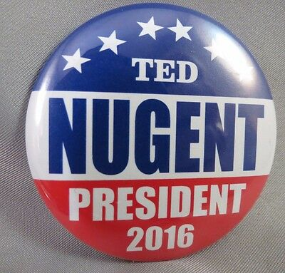 Wholesale Lot Of 12 Ted Nugent For President 2016 Buttons Donald Trump $ Usa Us