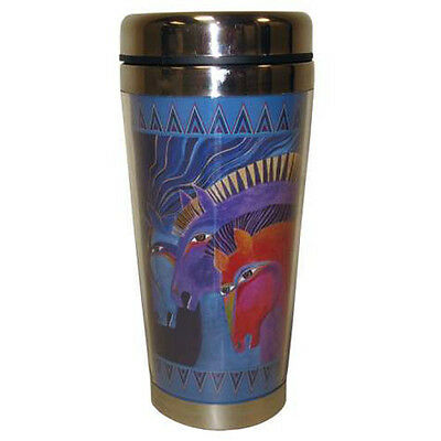 New LAUREL BURCH Travel Mug Cup HORSE PONY Figure COFFEE TEA 16oz Car Hiking