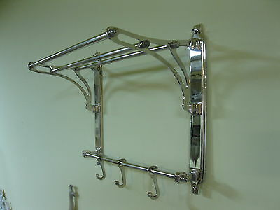 Silver Coat Hat Rack made of metal nickel plated 42cm x 35cm x 22cm