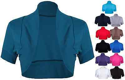 Ladies Bolero Shrug Womens Short Sleeve Top Size 8 - 14