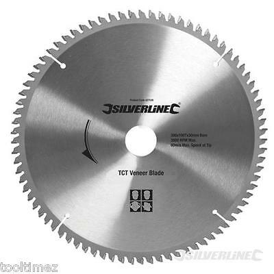 300mm TCT Veneer Circular Saw Blade 100Tooth 30mm bore Plunge Track Saws 427539