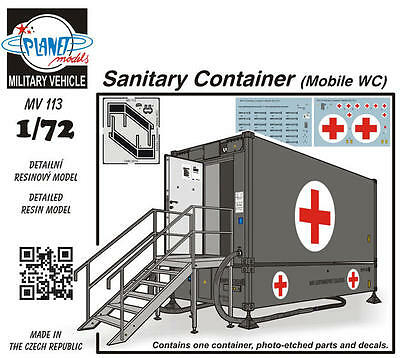 PLANET MODELS MV113 Sanitary Container (Mobile WC) Resin Kit in 1:72