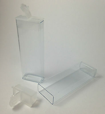 "Clear Plastic 3"" Flip Top Storage Tubes - 25 Pack, crafts, bead box, container"