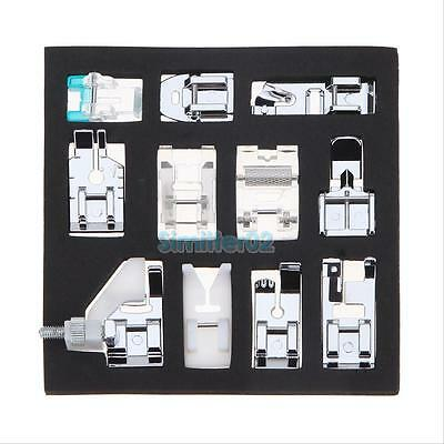 11 Presser Foot Feet Kit For Brother Singer Janome Juki Domestic Sewing Machine