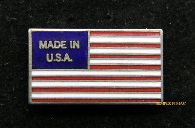 Made In Usa Flag Hat Lapel Pin Up Us Patroitic Washington Gift Tie Tac Wow